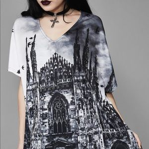 Dolls Kill Goth Church Oversized Tee